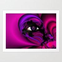 Pink And Purple Fractal … Art Print