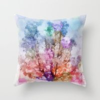 Independent tree  Throw Pillow