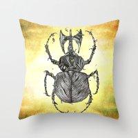 Sr Coprofago - Beetle shit Throw Pillow