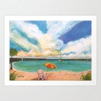 Seven Mile Bridge Art Print