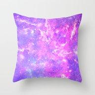 Pink Galaxy Throw Pillow