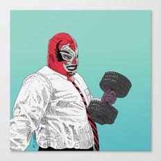 Lucha Wayne Canvas Print