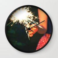 summer sparkler Wall Clock