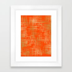 Crosshatch Fire Framed Art Print