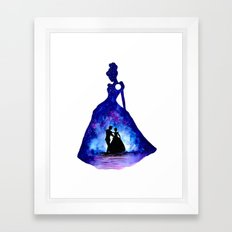 Cinderella Double Exposure - Dancing Framed Art Print
