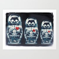 Nesting Doll X-Ray Art Print