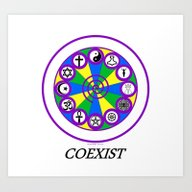 Art Print featuring COEXIST by Bella Mahri