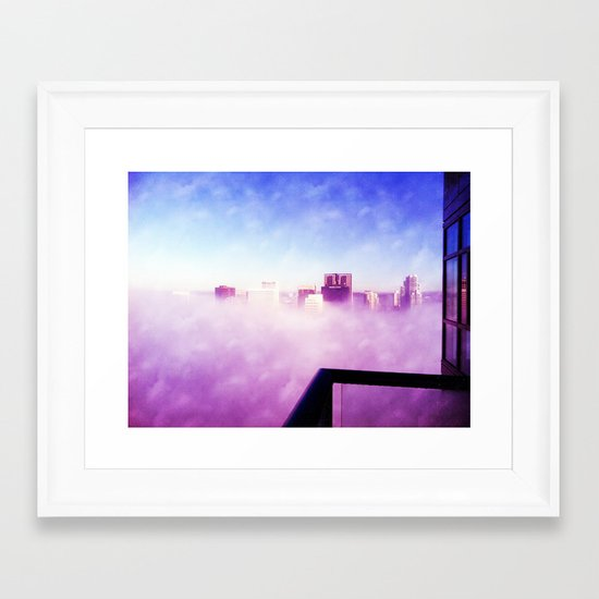 Head in the Clouds, Downtown, SD Framed Art Print