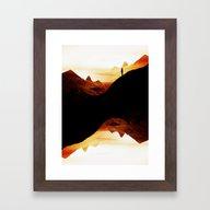 Red Wasteland  Framed Art Print