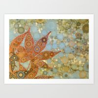 Perky Maple Leaf Abstract Art Print