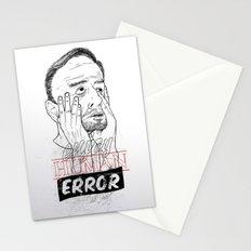 enjoy human error Stationery Cards