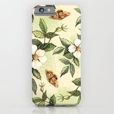 Delicate pattern with flowers and butterflies hips iPhone 6s Slim Case