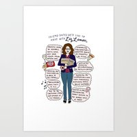 Liz Lemon Friend Dates Art Print