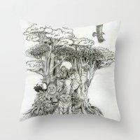 Jungle Friends Throw Pillow
