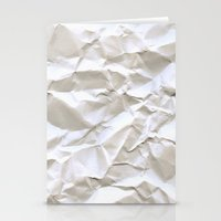apple Stationery Cards featuring White Trash by pixel404