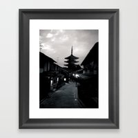 Kyoto At Dusk Framed Art Print