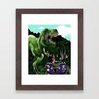 Em's Dino Adventure Framed Art Print