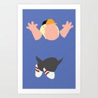 Family Guy - Chris Griffin Art Print