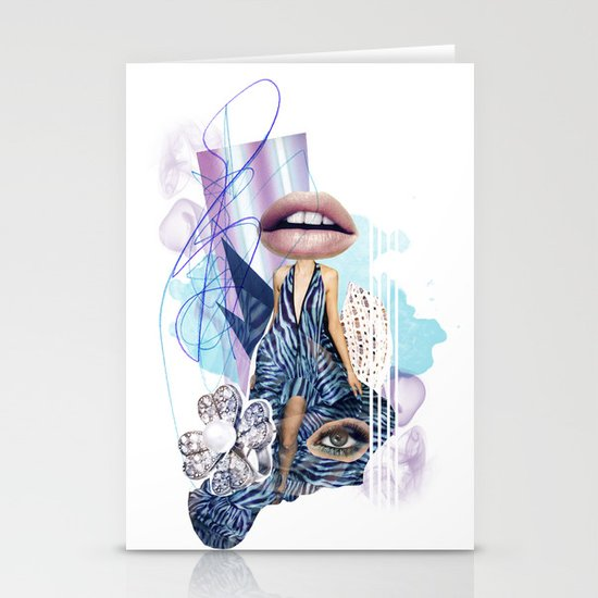 Zebra Kiss Stationery Card