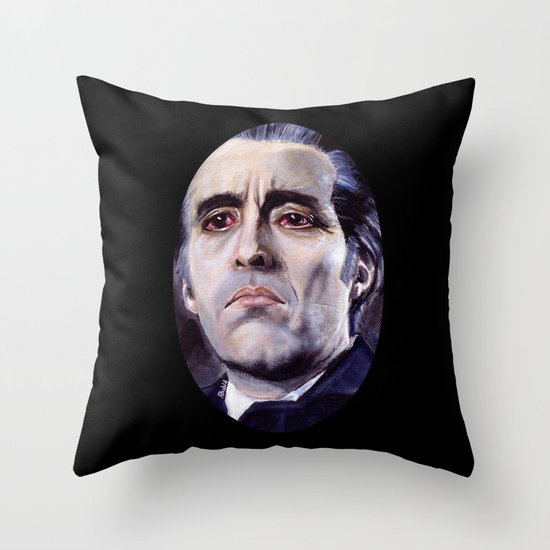 Christopher Lee as Dracula: He is the embodiment of all that is evil. Throw Pillow