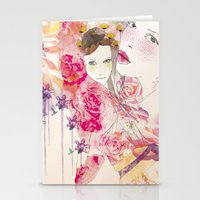 Watercolor Garden  Stationery Cards