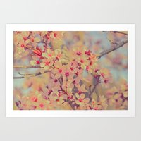Vintage Blossoms - In Me… Art Print