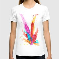 Dynamede Womens Fitted Tee White SMALL