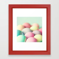 Colored Laid Eggs Framed Art Print