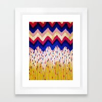 SHINE ON, Revisited - Americana Red White Blue USA Abstract Acrylic Painting Home Decor Xmas Gift Framed Art Print
