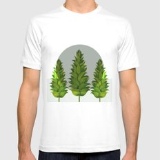 three green trees SMALL Mens Fitted Tee White