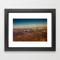 Mountains, Snow And Sky … Framed Art Print