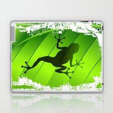 Frog Shape on Green Leaf Laptop & iPad Skin