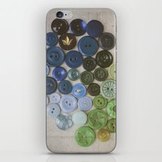 Blue Buttons iPhone & iPod Skin