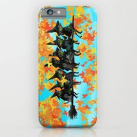 iPhone & iPod Case featuring Seven Witches on a Broom.  by Richard J. Bailey