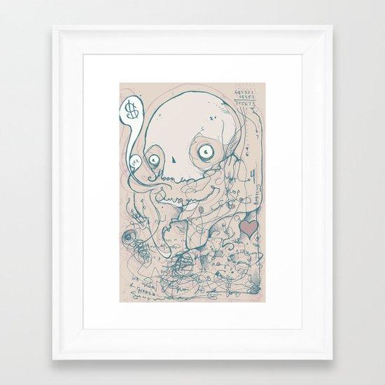 For love of money Framed Art Print