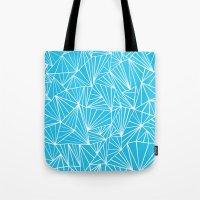 Ab Fan Electric Blue Tote Bag
