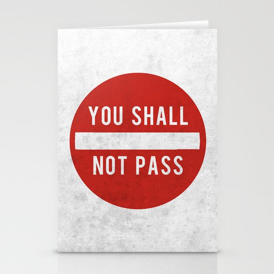 you shall not pass Stationery Card