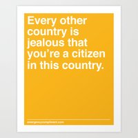 Every Other Country Art Print
