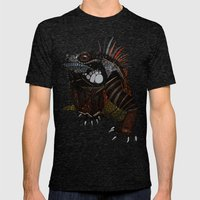 iguana gold Mens Fitted Tee Tri-Black SMALL