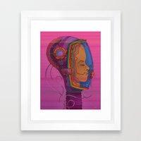 Biometric Signatureaction Formation Framed Art Print