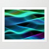 Turquoise Waving Art Print