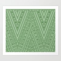 Gorgonize (in green snakeskin) Art Print