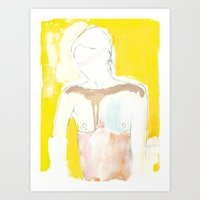 Figure On Gold Art Print