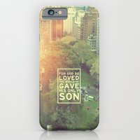"iPhone & iPod Case featuring John 3:16 ""For God so loved the world"" (Version 2) by Pocket Fuel"