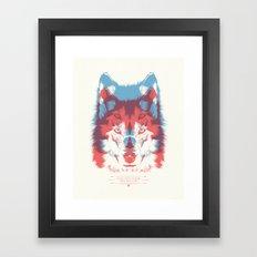 WOLF 3D Framed Art Print