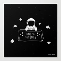 Selling Maps To The Star… Canvas Print