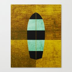 Canary/Mint Surfboard Canvas Print