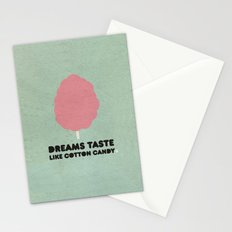 Dreams taste like cotton candy. Stationery Cards