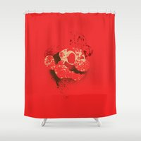 The Red Knight (Red Version) Shower Curtain