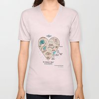 A Map Of The Introvert's… Unisex V-Neck